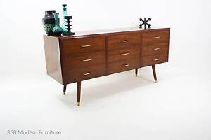 Mid Century Modern Sideboard chest Drawers Retro Vintage Walnut Narre Warren Casey Area Preview