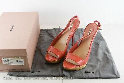 MIU MIU WOMEN'S SHOES VERNICE FLAT ROSA SZ 38 W/BOX & BAGS HEELS PUMPS