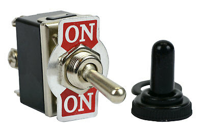 Temco 20a 125v On-on Dpdt 6 Terminal Toggle Switch W Waterproof Boot Cap