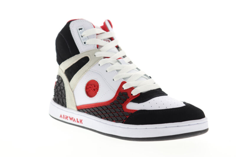 Airwalk Prototype 600 Mens White Leather Skate Sneakers Shoes