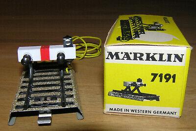 MÄRKLIN H0 7191 + PRELLBOCK mit SPERRSIGNAL + M-Gleis 70mm + OVP + GEPRÜFT