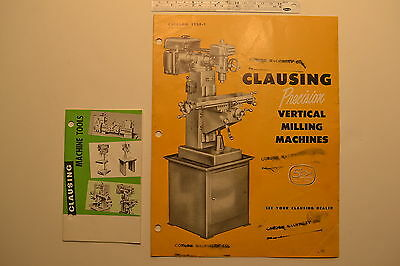 J102 2 Clausing Catalogs 1258-1 Vertical Milling Machine Machine Tools Book