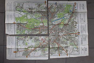 20071 Stadtplan von Leipzig 1965 mit Messe Plan u. Straßen Verzeichnis DDR