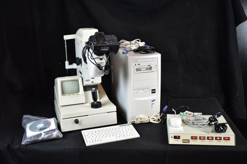 Great Used Canon CR6-45NM Fundus Camera System for Rear Eye Photography