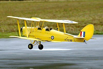 Dehavilland Tiger Moth Biplane     Scale Rc Model Airplane Printed Plans