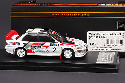 Mitsubishi Lancer Evo III #2 1995 Safari Rally *Pentti Kuukkula*  HPI #8552 1/43