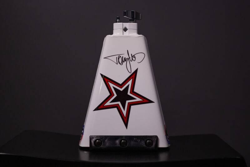 "LP Tommy Lee 009 8"" Cowbell, Handwritten Autographed"