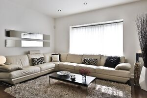 Natuzzi leather sectional couch