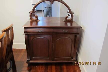 Antique Sideboard Victorian solid timber with mirror