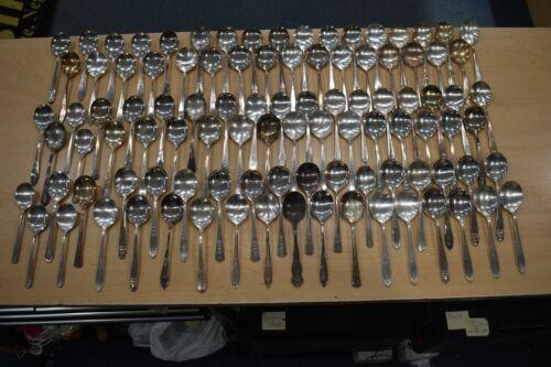 Lot of 100 Silverplate Soup Spoons Crafts Elsie Flatware Silver Plate BIN #3