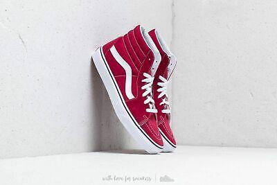 Vans SK8 Hi Rumba Red/True White Men's Classic Skate Shoes Size 11