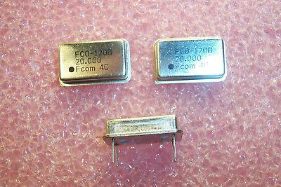 Qty 25 20mhz Full Size Oscillators Ttl 5v Fco120b-20.000mhz Fujicom Nos 1 Tube
