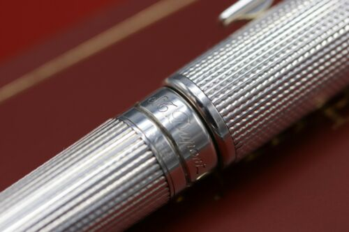 S.T. Dupont Olympio Silver-Plated Ballpoint Pen / Mechanical Pencil 4
