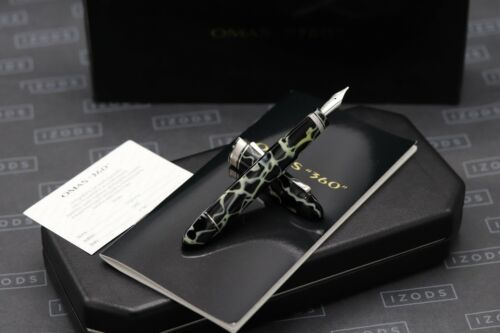 Omas 360 Wild Celluloid Fountain Pen - Rare 52 Degree Nib