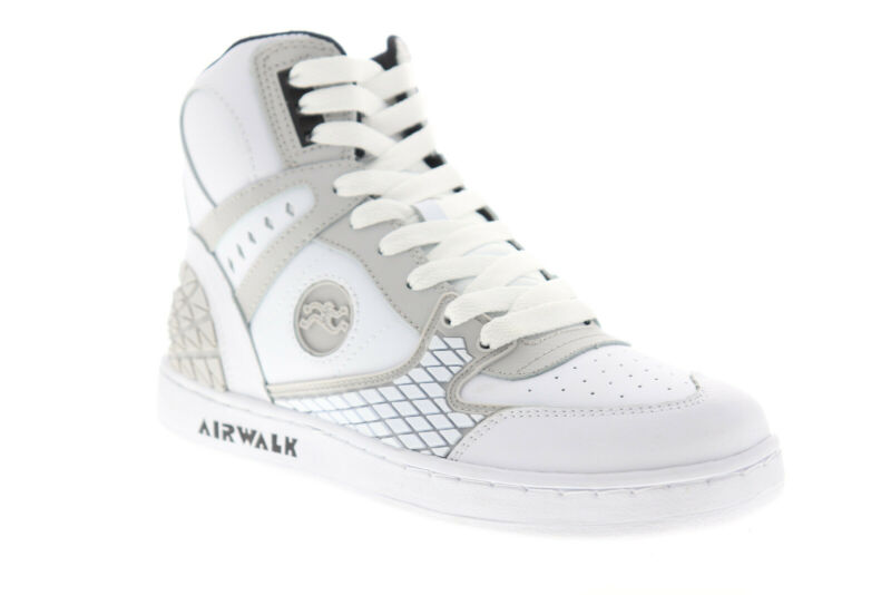 Airwalk Prototype 600 AW00226-100 Mens White Skate Inspired Sneakers Shoes