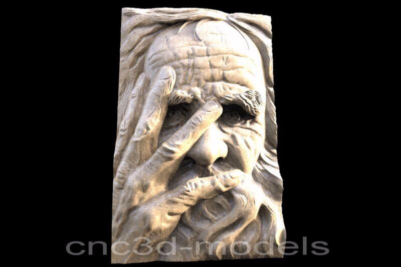 3D Model STL for CNC Router Engraver Carving Relief Artcam Aspire Old Man 146