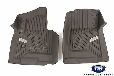 2015 2018 GMC Yukon Front All Weather Floor Mat in Cocoa 84073617 Genuine OEM GM