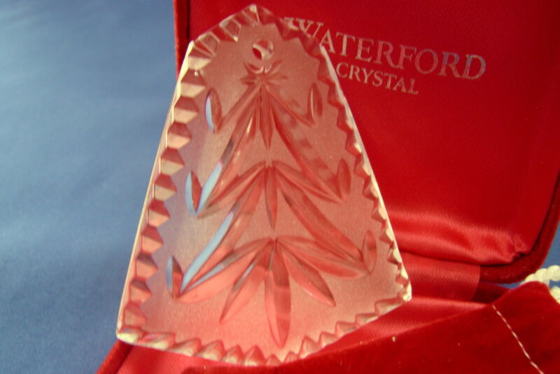 WATERFORD CRYSTAL CHRISTMAS TREE Christmas Ornament With Case