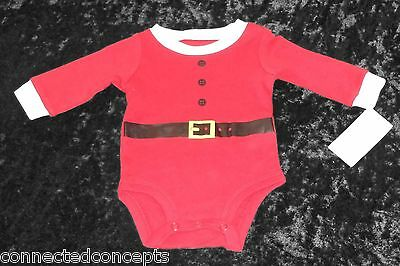 Christmas Carters Santa Suit Infant Bodysuit (SIZES Newborn-12 Months) - Infant Santa Suit