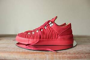 Filling Pieces Red Wrinkled Leather Low Top EU40 Blacktown Blacktown Area Preview