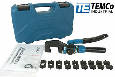 Temco 12ga-20 Hydraulic Lug Crimper Tool Electrical Battery Terminal Cable Wire