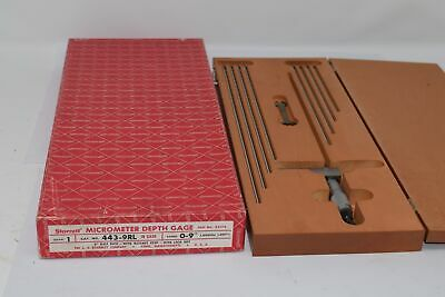 Starrett 443-9rl Micrometer Depth Gage With Half Base 0-9 52175