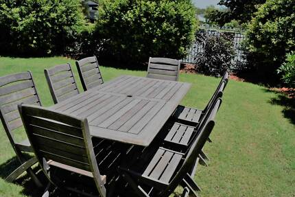 Outdoor Timber Table & 8 Chairs