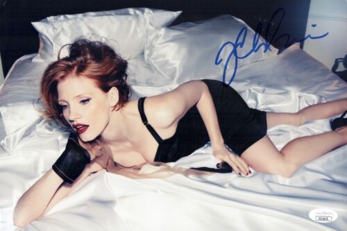 JESSICA CHASTAIN Hand Signed 8X12 Photo Sexy IN PERSON Autograph JSA COA Cert