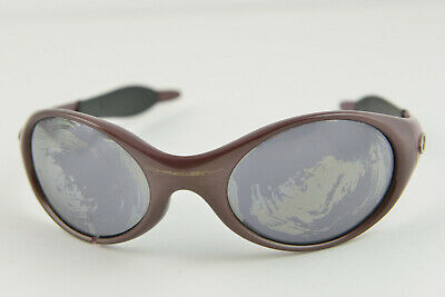 Broken/Repair OAKLEY TRENCHCOAT Maroon Purple/Black Iridium Sunglasses (Fix Sunglasses Arm)