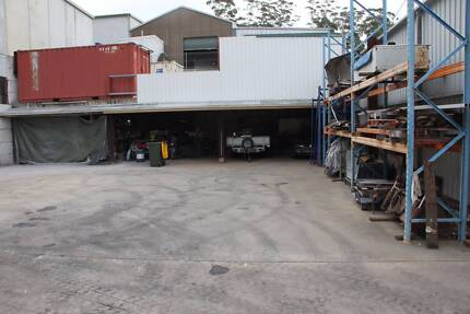 Secure Hardstand yard with undercover area at West Gosford