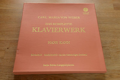 Von Weber compl. piano works HANS KANN 6LP box Vox VXDS 107 Klavierwerk  (Kann Vinyl Box)