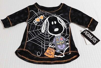 Halloween Snoopy Skeleton Infant/Toddler Girls T-Shirt (SIZES 12 Months-5T) NEW!](Snoopy Halloween Shirt)