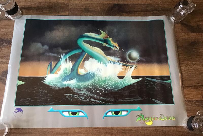 "Asia Dragon Roger Dean Poster Early 1982 ORIGINAL 36""X 24"" Free Ship"
