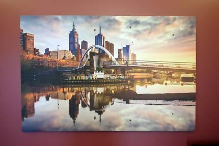 Large Melbourne City Framed Canvas size 130cm x 85cm