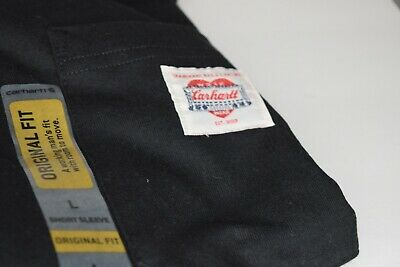 CARHARTT Heritage K Pocket T-Shirt Black WIP Made in USA Men's Sz Large
