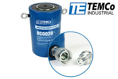 Temco Hc0020 - Hydraulic Cylinder Ram Single Acting 100 Ton 6 Inch Stroke