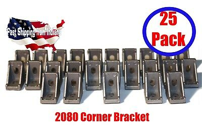 2028 Corner Bracket For 2020 Aluminum Extrusion Size 28x28x20mm Pack Of 25 New