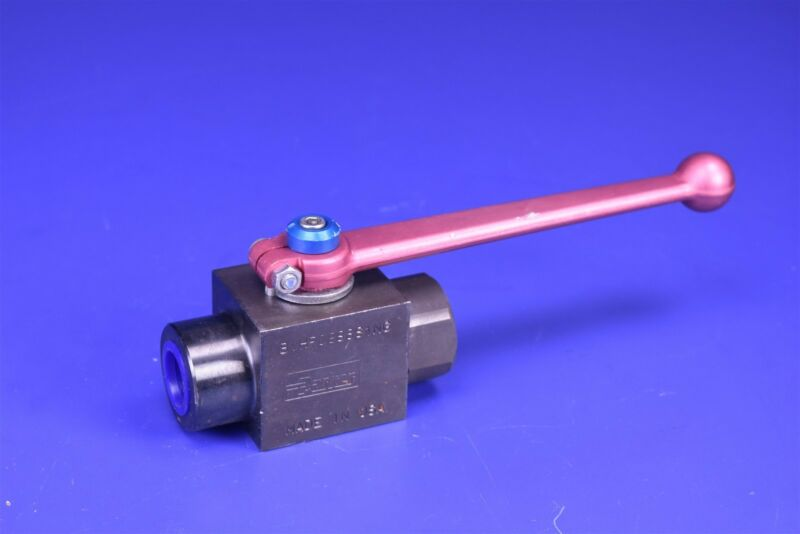 "Parker 2-Way 1/2"" SAE Hydraulic High Pressure Ball Valve 6,000 PSI BVHP08SSS1NG"