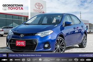 2015 Toyota Corolla S|BACK UP CAM|HEATED SEATS|SUNROOF|LEATHER
