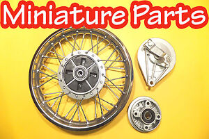 PIT BIKE REAR 12INCH DRUM BRAKE WHEEL PITBIKE 12 INCH BACK  SHOES + SPROCKET