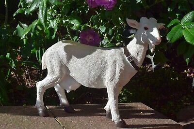 Deko Figur Ziege Bock Tierfigur Skulptur Deko Garten Dekoration Bauernhof Neu