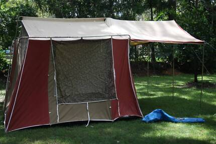 COUGAR ROOMATE CANVAS AND POLE TENT LARGE AWNING ONE ROOM