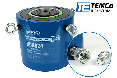 Temco Hc0024 - Hydraulic Cylinder Ram Single Acting 200 Ton 2 Inch Stroke