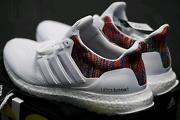 Adidas miadidas custom Ultra Boost crystal white rainbow US 10.5 Newington Auburn Area Preview