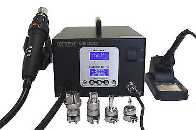 At8502d Smd Lead Free Hot Air Reword Station Soldering Station 2 In 1