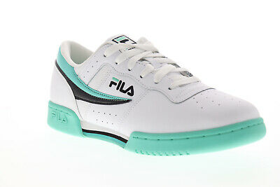 Original Fitness Sneaker - Fila Original Fitness Mens White Leather Low Top Lace Up Sneakers Shoes