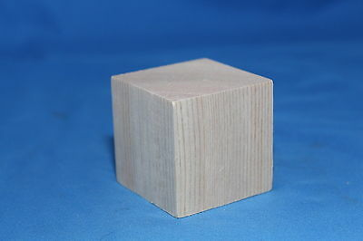 "2"" Memory Cube Block Unfinished Wood Craft Made in USA!"
