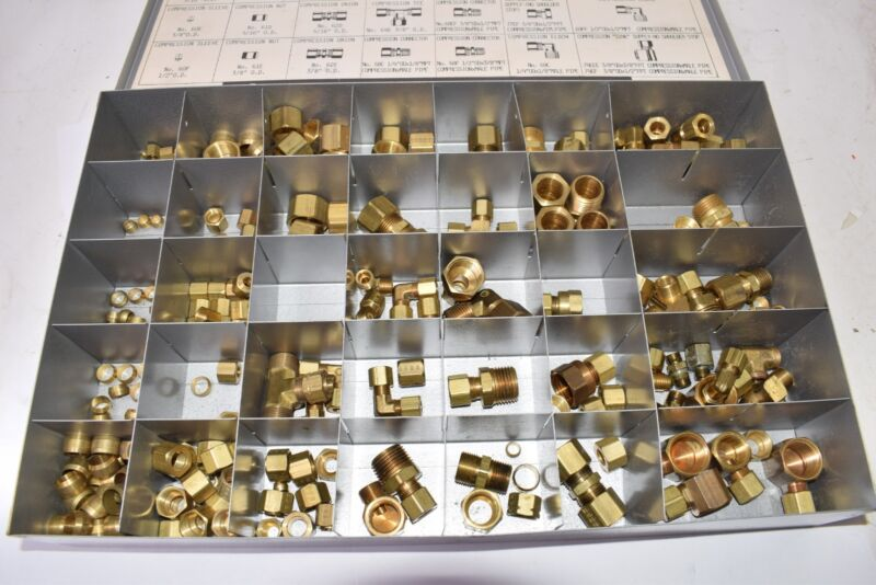 Couplings Company Brass Compression Tube Fittings Set, Set BFS-12, Case Included