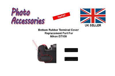 Bottom Rubber Terminal Cap Cover Replacement Part For Nikon D7100 DSLR Camera