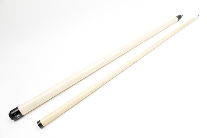 """Meucci Two-Piece 58"""" Maple Wrapless Pool Cue"""